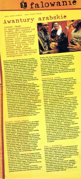 Artukł z magazynu City o Arabskim Pępku. 2000 rok.