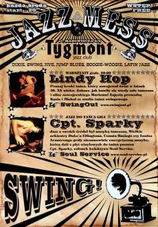 Plakat imprez Jazz Mess, klub Tygmont
